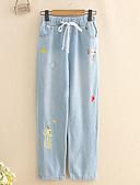 ieftine Pantaloni de Damă-Pentru femei Talie Înaltă Zvelt Blugi Pantaloni Floral