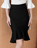 tanie Damska spódnica-Damskie Bawełna Bodycon Spódnice Solidne kolory