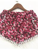 ieftine Rochii de Damă-Pentru femei Mărime Plus Size Zvelt Pantaloni Scurți Pantaloni - Floral Roz Îmbujorat / Ieșire