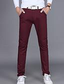 tanie Męskie paski-Męskie Bawełna Typu Chino Spodnie Solidne kolory