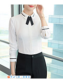cheap Women's Two Piece Sets-Women's Basic Shirt - Solid Colored Bow / Patchwork