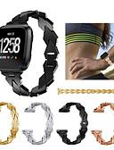 voordelige Smartwatch-banden-Horlogeband voor Fitbit Versa Fitbit Sportband Roestvrij staal Polsband