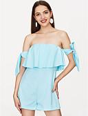 baratos Vestidos de Mulher-Mulheres Para Noite Macacão Sólido Sem Alças Perna larga