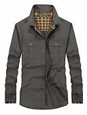 cheap Men's Underwear & Socks-men's shirt - color block shirt collar