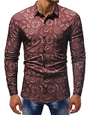 cheap Men's Exotic Underwear-Men's Shirt - Color Block Print