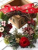 billige Klistermærker og etiketter-Guirlander Ferie Træ Rund Af Træ julepynt