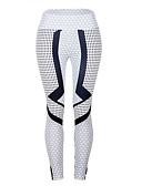 billige Tights-Dame Daglig Sporty Tights - Geometrisk, Trykt mønster Medium Midje