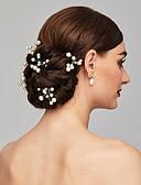 ieftine Rochii de Damă-Perle Veșminte de cap / Pini de păr cu Floral 1 buc Nuntă / Ocazie specială / Casual Diadema