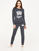 cheap Women's Two Piece Sets-Women's Hoodie / Set - Other Pant / Spring / Sporty Look
