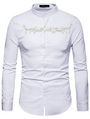ieftine Maieu & Tricouri Bărbați-Bărbați Cămașă Boho - Plisat Brodat