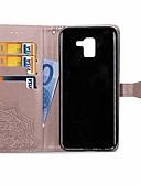 halpa Puhelimen kuoret-Etui Käyttötarkoitus Samsung Galaxy J6 / J4 Lomapkko / Korttikotelo / Tuella Suojakuori Mandala Kova PU-nahka