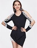ieftine Print Dresses-Pentru femei Tricou Ieșire Bumbac Șic Stradă - Mată / Eliminat