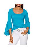 ieftine Bluză-Pentru femei Bluză Ieșire Mată