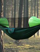 preiswerte Modische Uhren-Campinghängematte mit Moskitonetz Außen Regendicht, Atmungsaktivität Nylon für Wandern / Camping - 2 Personen Orange / Dunkelblau / Dunkelgrün
