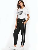 ieftine Pantaloni de Damă-Pentru femei Talie Înaltă Larg Pantaloni Chinos Pantaloni Mată