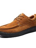 povoljno Haljine u plus veličini-Muškarci Udobne cipele PU Jesen Posao Oksfordice Non-klizanje Crn / Braon / Žutomrk