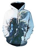 זול חולצות לגברים-צווארון עגול גיאומטרי קפוצ'ון רזה שרוול ארוך מידות גדולות בגדי ריקוד גברים