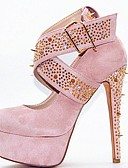 cheap Bikinis-Women's Pumps Suede / Cowhide Summer Heels Stiletto Heel Pink