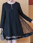 ieftine Rochii de Damă-Pentru femei Mărime Plus Size Pantaloni - Mată Dantelă Negru / Ieșire