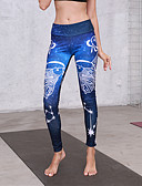 billige Leggings-Dame Basale Legging - Geometrisk Medium Talje