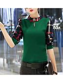 ieftine Tricou-Pentru femei Stil Nautic Tricou Ieșire Bloc Culoare / Zvelt