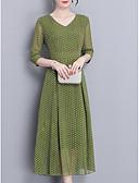 povoljno Ženske haljine-Žene Šifon Haljina Na točkice Midi