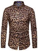 povoljno Muške košulje-Majica Muškarci Dnevno Leopard / Ruska kragna / Dugih rukava