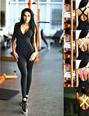billige Jumpsuits og rompers til damer-Dame Åben Ryg Yoga Suit - Sort, Rosa, Grøn Sport Farveblok Spandex Højtaljede Bodysuit Dans, Løb, Fitness Uden ærmer Sportstøj Åndbart, Anatomisk design, Butt Lift Elastisk Tynde