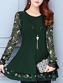 baratos Vestidos Plus Size-Mulheres Básico Calças - Geométrica Verde / Mini