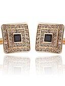 cheap Quartz Watches-Geometric / Button Silver / Golden Cufflinks Alloy European / Fashion Men's Costume Jewelry For Wedding / Party