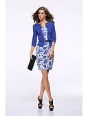 tanie Print Dresses-Damskie Vintage / Podstawowy Szczupła Spodnie - Kwiaty Nadruk Wysoka talia Czerwony / Praca