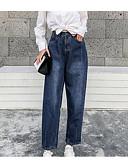 billiga Byxor-Dam Streetchic Jeans Byxor - Enfärgad