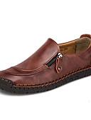 זול שמלות במידות גדולות-בגדי ריקוד גברים נעלי נוחות עור נאפה Leather / עור אביב קיץ נעליים ללא שרוכים שחור / חום בהיר / חום כהה