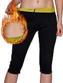 tanie Koszula-Spodnie wyszczuplające / Legginsy Capris Z Neopren Elastyczny, Efekt sauny Utrata wagi, Spalacz tłuszczu, Wyrzeźbiony brzuch, Spalanie tłuszczu Dla Męskie / Damskie Joga / Fitness / Siłownia Noga