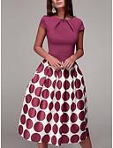 ieftine Rochii de Damă-Pentru femei Zvelt Pantaloni - Buline Imprimeu Roșu-aprins / Stil Nautic