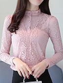 baratos Blusas Femininas-Mulheres Blusa Básico Sólido