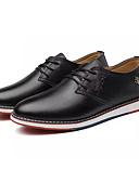 abordables Sombreros de mujer-Hombre Zapatos Confort PU Otoño Negocios Oxfords Transpirable Blanco / Negro / Amarillo