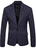ieftine Blazer & Costume de Bărbați-Bărbați Zvelt Blazer Carouri / Manșon Lung