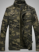 cheap Men's Pants & Shorts-Men's Military Jacket - Contemporary