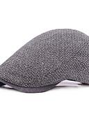 olcso Férfi kalapok, sapkák-Férfi Egyszínű / Pöttyös Alap - Svájcisapka