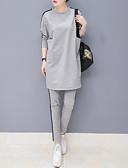 ieftine Costum Damă Două Bucăți-Pentru femei Activ / Sofisticat Set - Bloc Culoare, Pantaloni Plisată