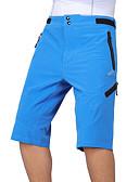 baratos Couro-Arsuxeo Homens Shorts para Ciclismo Moto Shorts largos / Bermudas para MTB / Calças Respirável, Secagem Rápida, Design Anatômico Clássico Poliéster, Elastano Verde Tropa / Azul / Cinza Escuro