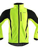 hesapli Mini Elbiseler-Arsuxeo Erkek Bisiklet Ceketi Bisiklet Ceket / Yaz Polar Ceketler / Üstler Rüzgar Geçirmez, Sıcak Tutma, Nefes Alabilir Çizgi Polyester, Splandeks, Tüylü Kumaş Kış Turuncu / Kırmzı / Açık Yeşil Yol