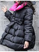 tanie Damskie płaszcze z futrem naturalnym i sztucznym-Brzdąc Dla dziewczynek Podstawowy Solidne kolory Długi rękaw Bawełna Odzież puchowa / pikowana Czarny