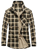 povoljno Muške košulje-Majica Muškarci Dnevno Karirani uzorak
