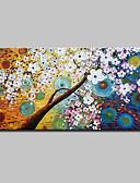 abordables Ropa interior para hombre exótica-Pintura al óleo pintada a colgar Pintada a mano - Abstracto / Floral / Botánico Modern Lona