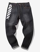 abordables Pantalones y Shorts de Hombre-Hombre Tallas Grandes Vaqueros Pantalones - Bloques Negro