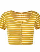 ieftine Bluze & Camisole Femei-Pentru femei Tricou Bumbac Dungi