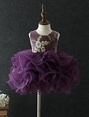 tanie Sukienki dla niemowląt-Dziecko Dla dziewczynek Podstawowy Kwiaty Bez rękawów Bawełna Sukienka Granatowy / Brzdąc