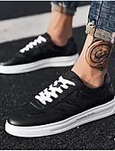 זול טישרטים לגופיות לגברים-בגדי ריקוד גברים נעלי נוחות PU קיץ & אביב נעלי ספורט לבן / שחור
